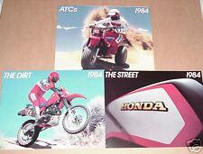 1984 ATC All Model,The Dirt,The Street Honda Brochures - 3 Brochures- Literature