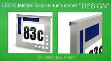 LED Solar Hausnummer Beleuchtung Hausnummernleuchte Solarleuchte Edelstahl Lampe
