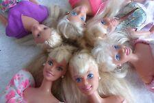 BARBIE lot of vintage années 1990 visage Habillé poupées