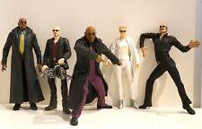 5 figurines articulées film THE MATRIX 17cms Morpheus Agent Smith Cypher Destiny