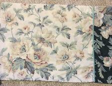 Vintage Laura Ashley Pair Standard Pillowcases White Green Magnolias Floral VGUC