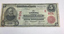 York Pennsylvania, national bank , $5  1902 red seal , VF rare !