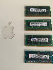 8GB 4x2GB Assorted 8500S DDR3 204-Pin Laptop RAM Memory - 4 sticks of 2gb each