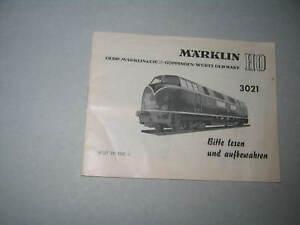 Märklin Beschreibung für die H0-Lokomotive 3021