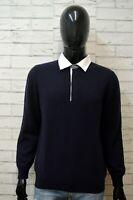 FAY Maglione Uomo Pullover Taglia M Sweater Cardigan CASHMERE Man Blu Maglia
