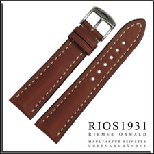22x18 mm RIOS1931 for Panatime - Cognac Tornado- Russian Leather Watch Band For