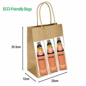 Bulk Brown Paper Bags With Handles Kraft Paper Bags Gift Bags Shop Wedding Food