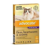 Advocate Purple Flea, Heartworm and Worms Treatment for Cats Over 4Kg - 3 Pack