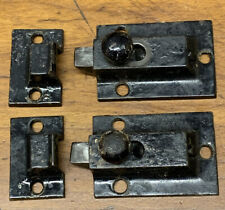 Antique Vintage Cabinet Latches Cast Iron Plain Pair