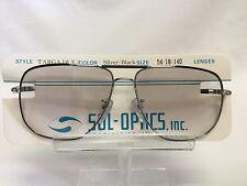 Vintage Targa Deluxe 2 18K HGP Eyeglasses Sunglasses 1970's Silver Black Metal