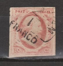 NVPH Nederland nr 2g used gestempeld 1852 1e emissie Willem III
