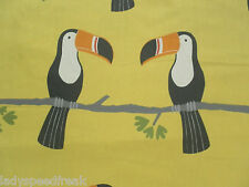 Harlequin Scion Curtain Fabric Terry Toucan 0.95m Tangerine/charcoal/maize 95cm
