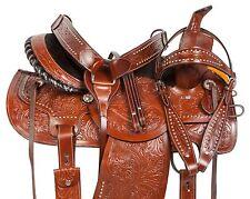 14 15 16 WESTERN BARREL RACING PLEASURE TRAIL SHOW HORSE LEATHER SADDLE TACK