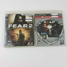 Lot of 2 Playstation 3 FEAR.2 and FEAR 3 Complete with manuals
