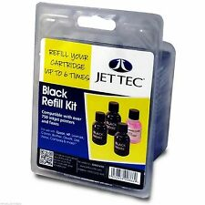 Jet Tec r26 Black Universal/All-Purpose Refill Kit CANON EPSON HP BROTHER Dell