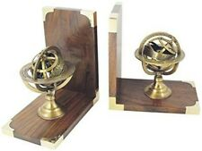 Bookends Wooden/Brass - Astrology, Himmelskugel, Zodiac Sign