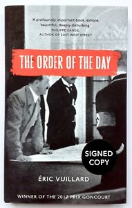 The Order Of The Day by Eric Vuillard **Signed U.K 1st/1st**