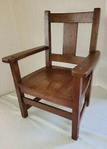 Antique Limbert Arts & Crafts Mission Oak Child's Chair #1933