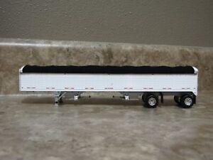 DCP 1/64 Wilson White Black Spread Axle Hopper Bottom Grain Trailer Farm Toy