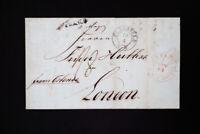 Prussia 1843 Elberfield & Franco Cancels to London