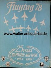 Flugtag 1978 Ramstein Airbase Germany Programm Airforce Luftwaffe program