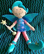 RARE Vintage 90s Funky Girl Playgro Fairy Doll Soft Stuffed Plush Toy Bells 40cm