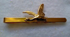 HUNTERS THEME TIE BAR GOLD TONE FLYING DUCK-MADE IN CZECH