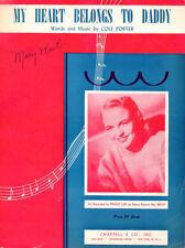 MY HEART BELONGS TO DADDY Music Sheet-1938-COLE PORTER-Harlem/Rhumba-PEGGY LEE
