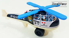 POLICE PATROL HELICOPTER 1960 Ichimura Push Along Tin Toy Japan Vintage 1960s