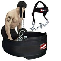 Gym Dipping Belt Weight Lifting Head harness Neck Exercise Strengthener Dips,U