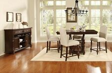5Pc Counter height Formal Dining Set For Dining Room Furniture Table Side Chairs