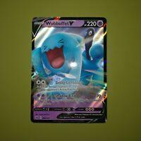 Wobbuffet V 086/202 Pokemon Sword & Shield Full Art Holo Ultra Rare
