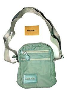 "Rare Diesel   Green Nylon Crossbody / Shoulder Bag   RN93243   7"" x 8"" x 3"""