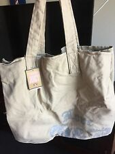 Juicy Couture Iconic Canvas Tote Purse Bag Large With Gift Box
