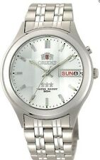 New Orient Silver White Dial Men's Automatic Watch 9 Faceted  Orient Box
