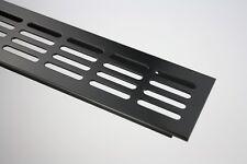 Aluminium Lüftungsgitter Stegblech - Schwarz pulverbeschichtet - diverse Grö�Ÿen
