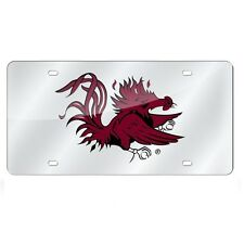 South Carolina Gamecocks Mirrored Laser Cut License Plate Laser Tag