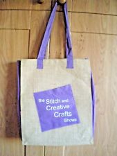 Brand New 'Stitch & Creative Crafts Show' Canvas Storage/Shopping Bag