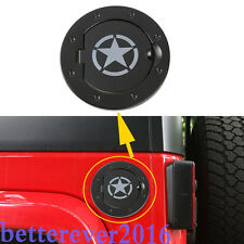 Five Star Aluminum Fuel Door Gas Tank Cover Cap For 2007-2017 Jeep Wrangler JK