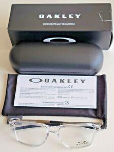 Brand New Men's Oakley WHEEL HOUSE Polished Clear Prescription Eyeglass Frames.