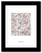 More details for van halen - little dreamer ❤ typography quote poster limited edition print #90