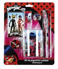 Be Miraculous Ladybug Cat Noir 6 Piece Stationery  Set Tin + Pencil Holder Pot