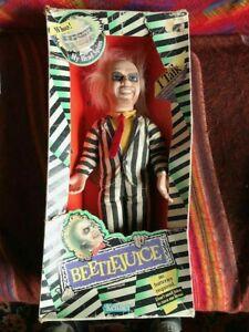 Beetlejuice Talking Head Spinning Doll-Kenner-In Box-Box Worn-Vintage