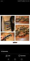 Beautiful 2pcs Afghan kuchi Traditional cuff bracelets , gypsy Ethnic jewel/Afgh