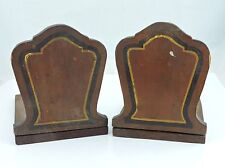 Vintage Primitive Handmade Homemade Wooden Bookends Book Ends Arts & Crafts # 2