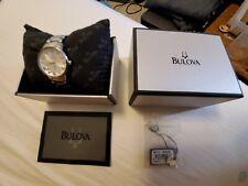Bulova #96P111 Diamond Silver Dial Stainless Bracelet Quartz Ladies Watch