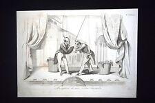 Incisione d'allegoria e satira Accordo Dresda, Austria, Prussia Don Pirlone 1851