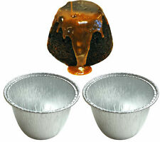 MINI FOIL PUDDING BASINS PIE DISHES CASES ROUND CONTAINERS PUDS XMAS steak suet