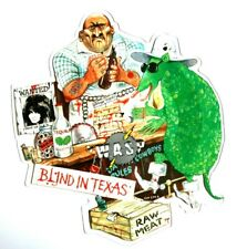 MINT! WASP Blind In Texas Shaped vinyl Picture Disc Iron Maiden Metallica