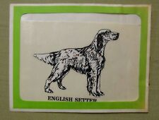 Vintage Nos English Setter Dog Decal Sticker Weatherproof Bright Deal